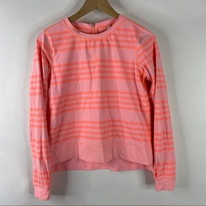 Lululemon Shirt Run Warm Up Crew Zip Back Striped